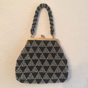 Vintage hand made in Hong Kong beaded purse clutch